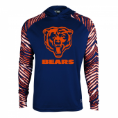 Chicago Bears Zebra Light Weight Hoodie