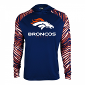 Denver Broncos Zebra Light Weight Hoodie