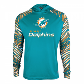 Miami Dolphins Zebra Light Weight Hoodie