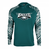 Philadelphia Eagles Zebra Light Weight Hoodie