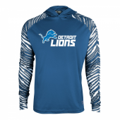 Detroit Lions Zebra Light Weight Hoodie