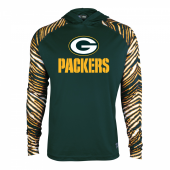 Green Bay Packers Zebra Light Weight Hoodie