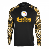 Pittsburgh Steelers Zebra Light Weight Hoodie