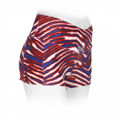 Womens New BlueRed Zubaz Short Short