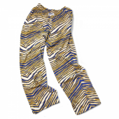 Royal BlueGold Zebra Pant