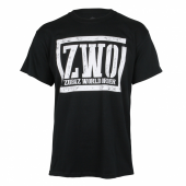 Zubaz World Order Black Tee With White Graphic