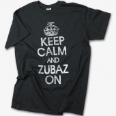 Black Keep Calm Zubaz On TShirt