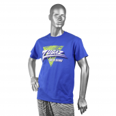 ZUBAZ BLUEFLUORESCENT YELLOW TRIANGLE TSHIRT