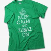 Kelly Green Keep Calm Zubaz On TShirt