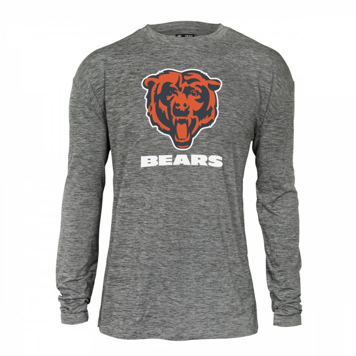 Men s Chicago Bears Space Dye Long Sleeve T-shirt  d8142c1e4446
