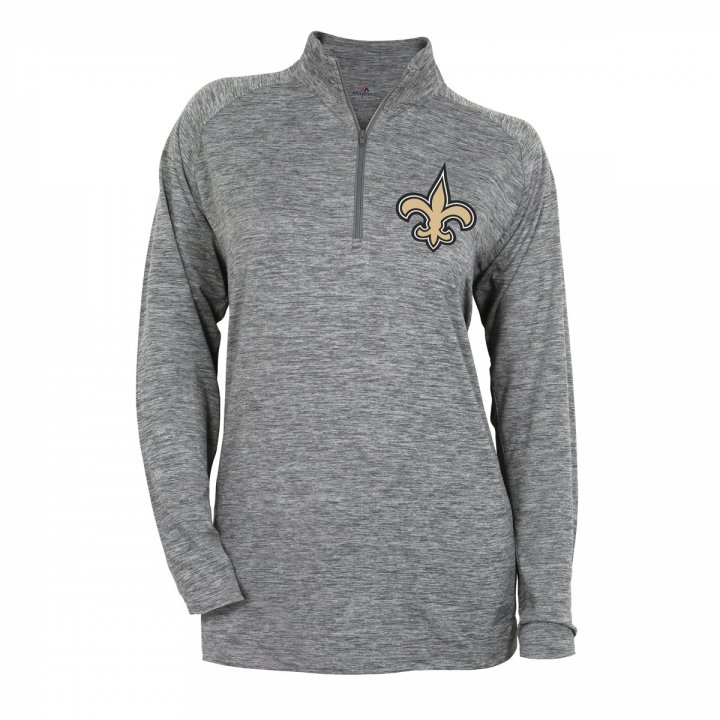 Women s New Orleans Saints Space Dye Quarter Zip Top  4231303ef