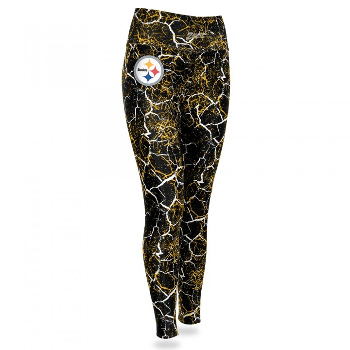 Team Color Zubaz Officially Licensed NFL Womens Printed Mesh Leggings