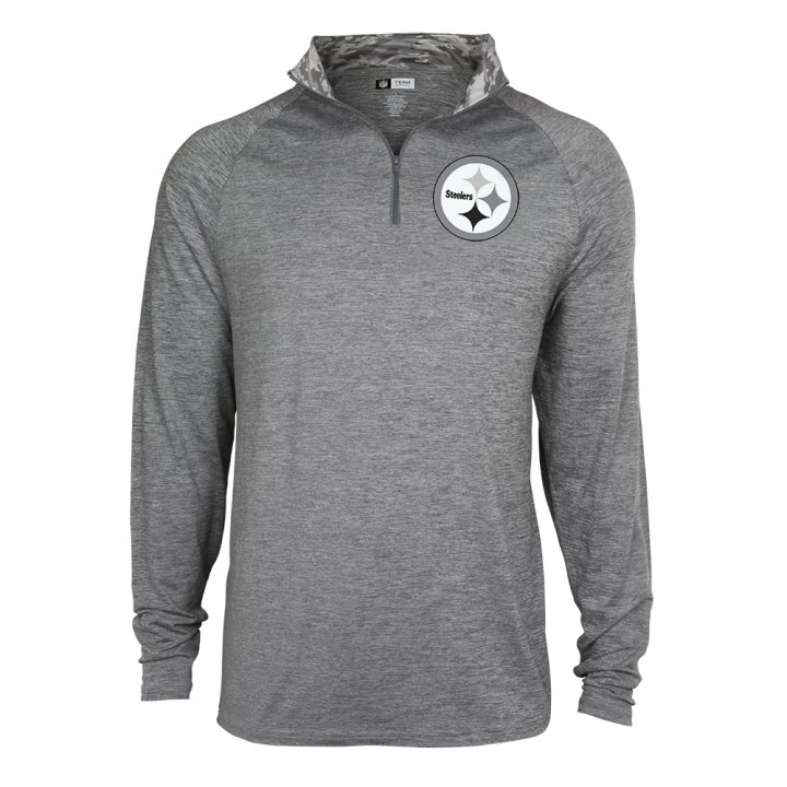 free shipping d0ebc 65dec Men's Pittsburgh Steelers Space Dye Quarter Zip Pullover ...