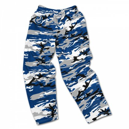 f6fc507e Indianapolis Colts Screen Print Logo Camo Pants | Royal Blue/White ...