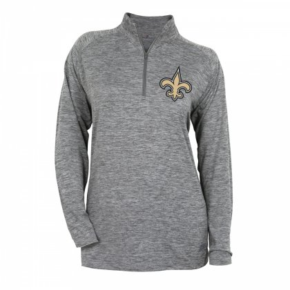 ... release date 22d51 a9ac3 Womens New Orleans Saints Gray Space Dye  Quarter Zip Pullover. item ... ecf44a58c