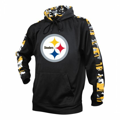 reputable site 81130 0e998 Pittsburgh Steelers Camo Hoodie | Black/Gold | Zubaz Store