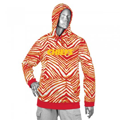 Kansas City Chiefs Zebra Hoodies Red Gold Zubaz Store