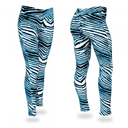 brand new 5d922 d6c6d Carolina Panthers Black/Panther Blue Zebra Legging | Black ...