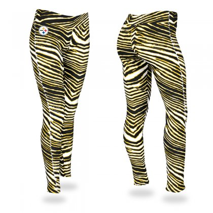 Pittsburgh Steelers Black Gold Zebra Legging bfbefa922