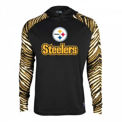 Pittsburgh Steelers Zebra Light Weight Hoodie. item image f88653047
